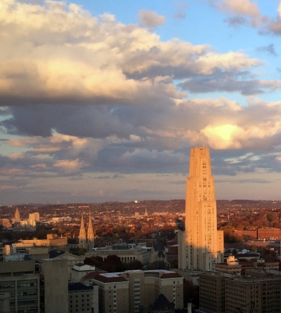 View of Oakland of the Cathedral of Learning