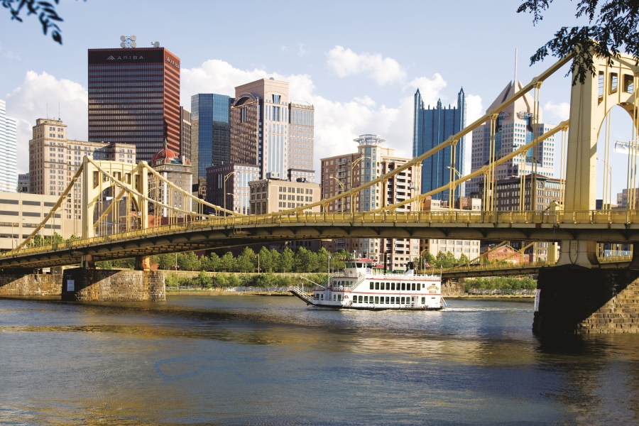 View from Pittsburgh's North Shore, overlooking the Allegheny River