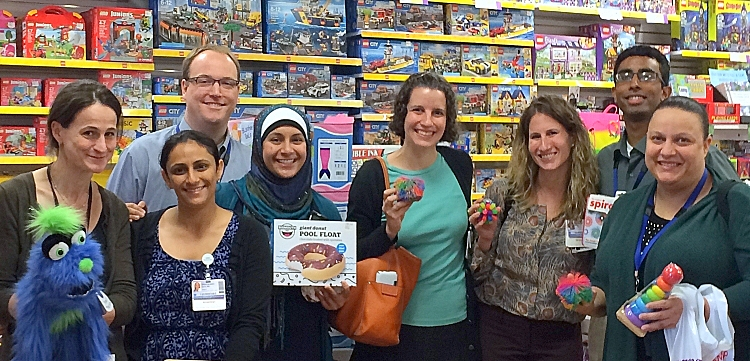 As part of their orientation, our child and adolescent psychiatry fellows buy toys for their offices.